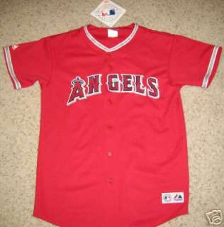ANAHEIM ANGELS BASEBALL JERSEY YOUTH XL RED