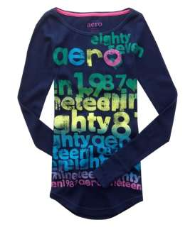 Womens AEROPOSTALE Waffle Thermal Gradient Shirt NWT |