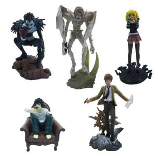 5x Death Note L Lawliet Misa PVC Figure Set