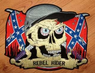 Rebel Rider Biker Confederate Flag Soldier & Skull! NEW