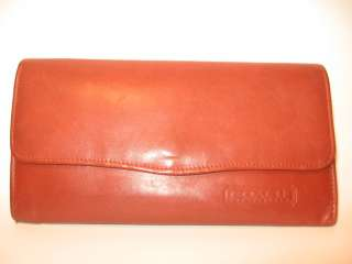 Vintage Coach Brown Leather Envelope Bifold Wallet