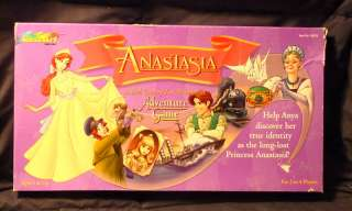 Princess Anastasia Adventure Board Game 1997 Rose Art