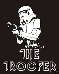 STAR WARS T shirt Stormtrooper The Trooper iron maiden