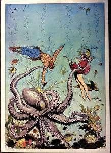 Frank Frazetta Buck Rogers Print 1975 12.5 x 17.6 NM