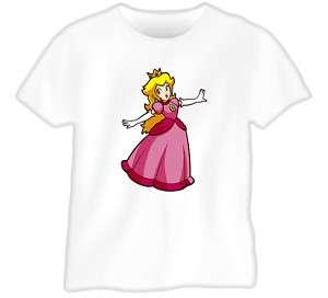 Princess Peach Super Mario T Shirt |