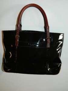 Kate Spade Black Patent Leather Purse Handbag Shoulder Bag |