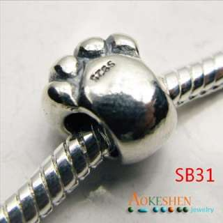 STERLING Silver European Spacer Beads Fit Snake Chain bracelet sb31