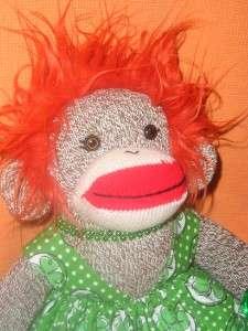 Irish St Patricks Day Sock Monkey Doll