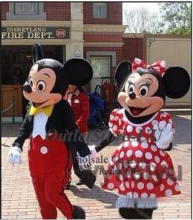 Mickey Minnie couple Mouse mascot cartoon costume Fancy Party dress
