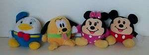 Mickey Minnie Pluto Donald Duck Round Soft Ball Plush Toy 3