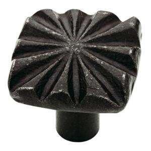 Liberty 1 3/16 In. Handmade Black Iron Star Pattern Knob 142322 at The