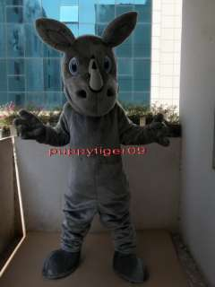 New Rhino Mascot Costume Fancy Dress Adult CARTOON