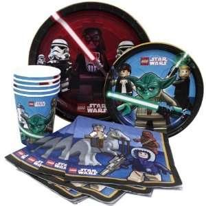 LEGO STAR WARS   Party Set (Kindergeburtstag) für 8 Personen (Teller