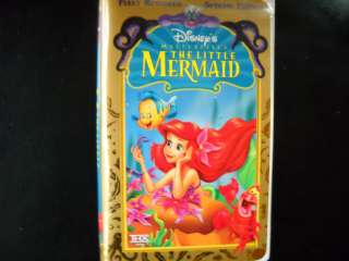 The Little Mermaid (VHS, 1998, Special Edition) Used