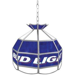 Trademark Global Bud Light 16 in. Stained Glass Billiard Hanging
