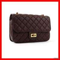 NEW Women Quilted Gold Chains Basic Handbags Shoulder Crossbody Bags