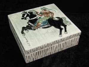 Stewart Ceramic Persian Rider Lidded Box Laguna California Pottery