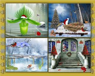 CH4 Christmas Digital Backgrounds Backdrops templates Holiday New Year