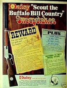 Scout Buffalo Bill Daisy BB Gun Air Rifle 1969 AD