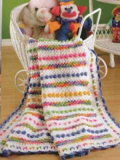 Handmade Crochet Granny Square Patchwork Hearts Quilt Baby Afghan