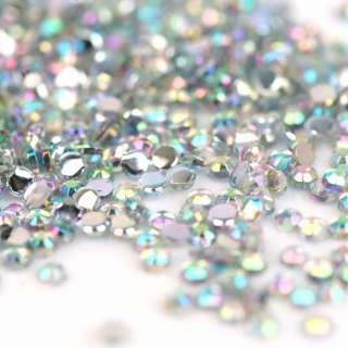 10000pcs 1.5mm Iridescent Crystal Rhinestones Nail Art
