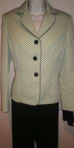 Evan Picone Womens Suit 8P 8 Petite NEW Pants Jacket