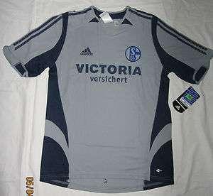 Adidas FC Schalke 04 Trikot, Shirt, silber/navy, Herren,Gr. S, M, L