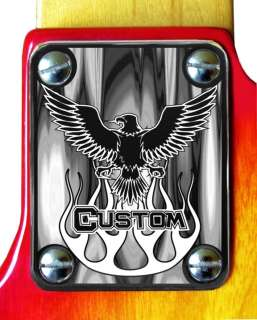 Neck Plate Chrome 4 Fender Strat Guitar Eagle Custom