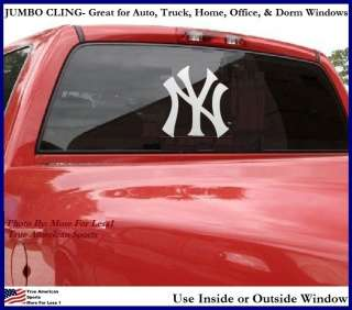 YANKEES NEW YORK BIG WINDOW CLING Decal Sign Reuse NEW
