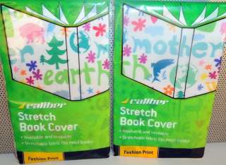 Fabric Stretch Book Covers Mother Earth Love Print