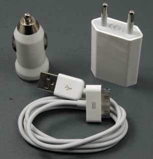 3in1 Ladegerät Ladekabel KFZ USB iPod iPhone 4 3G 3GS C