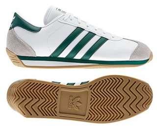 New Adidas Originals Mens COUNTRY 2.0 Shoes Retro White Green Cross