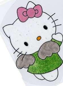 WINDOW COLOR FENSTERBILD Hello Kitty Engel Glitzer