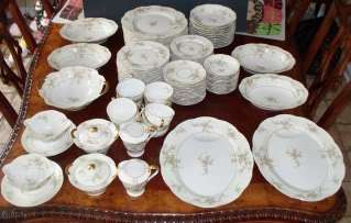 Haviland Limoges Rosalinde New York Large Floral Dinnerware 99 Pc