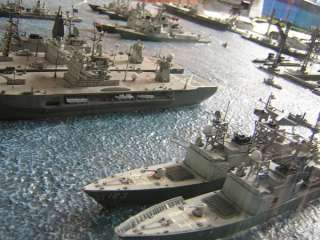 US   NATO Base 1/700 DIORAMA with ships, subs, planes