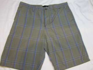 shorts size 32 34 36 38 Puerto Rico rock brown plaid nwt skate