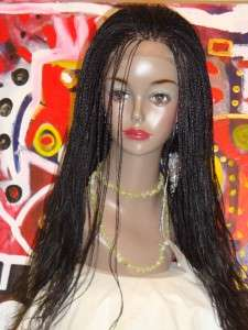 Braided Lace Front Wig,NWT,hand made.color # 1b. Wavy .long.FreeTress