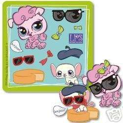 10 Make Your Own LITTLEST PET SHOP Stickers Girls Party Goody Bag