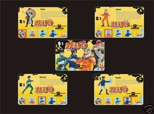 M01204 USA phone cards Mcdonalds NARUTO 5pcs
