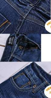 fashion Casual Vintage Frayed Jeans Low rise Slim jeans Denim Pants