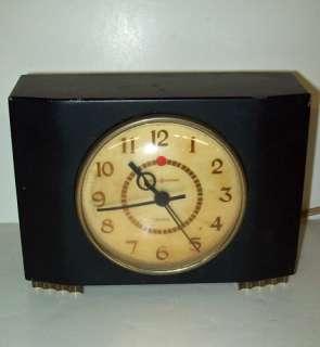 GENERAL ELECTRIC 7H166 Alarm CLOCK Art Deco MODERNE