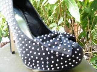 BEBE SHOES sandals heel platform LIZZY STUD BLACK