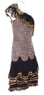 BLACK & GOLD SHOWGIRLS DANCEHALL DRESS 1930S 40S RARE