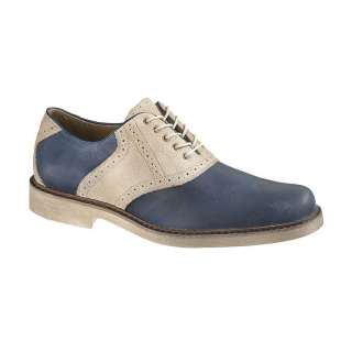Hush Puppies AUTHENTIC Mens Blue Leather Oxfords Shoes H102423