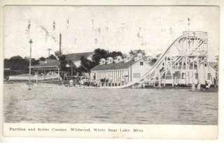 1908 WHITE BEAR LAKE. MINN, WILDWOOD AMUSEMENT PARK |