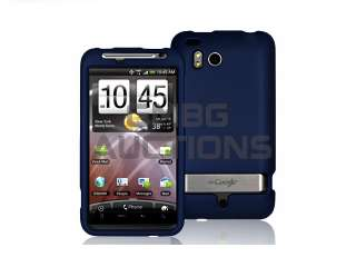 Navy Blue Rubberized Hard Case Cover HTC Thunderbolt