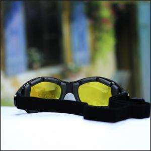 NEW MENS GOGGLES SUNGLASSES BIKER MOTORCYCLE SPORTS POLY CARBON LENS 5