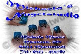 50 Visitenkarten Nagelstudio Fingernagelstudio Nails
