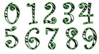 10 zebra animal print numbers machine embroidery design