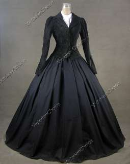 Civil War Victorian Cotton Blends Day Dress Ball Gown 166 L